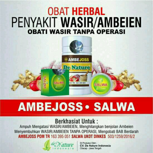 Ambejoss dan Salep Salwa - De Nature Indonesia 085888818587 0877870639