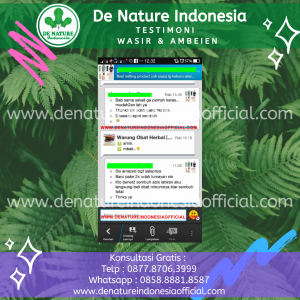 Testimoni Ambeien dan Wasir - De Nature Indonesi Official - Rahasia Herbal Indonesia