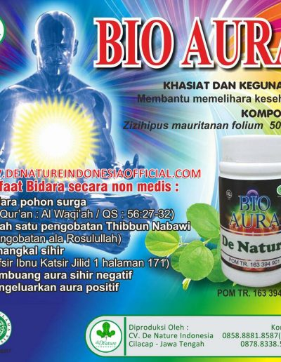 Bio Aura - De Nature Indonesia - Rahasia Herbal Indonesia - 085888818587 087787063999