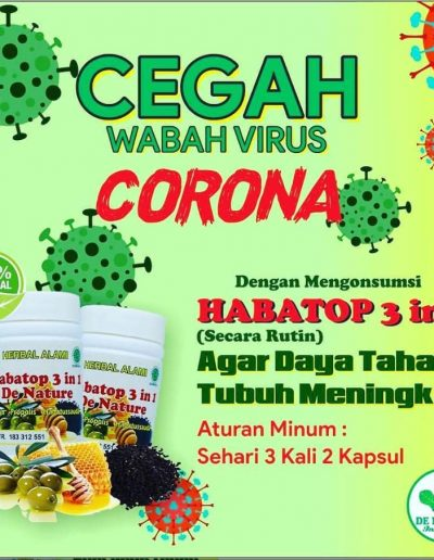Corona Habatop - De Nature Indonesia - Rahasia Herbal Indonesia - 085888818587 087787063999