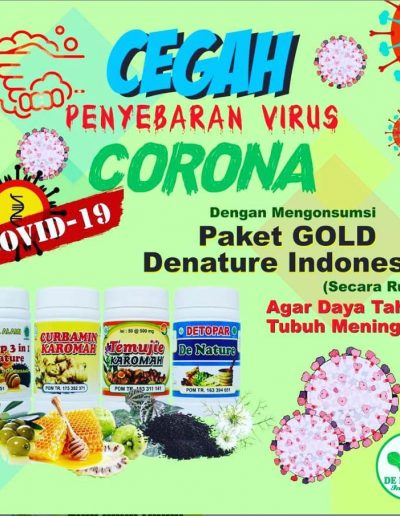 Corona Paket Gold - De Nature Indonesia - Rahasia Herbal Indonesia - 085888818587 087787063999