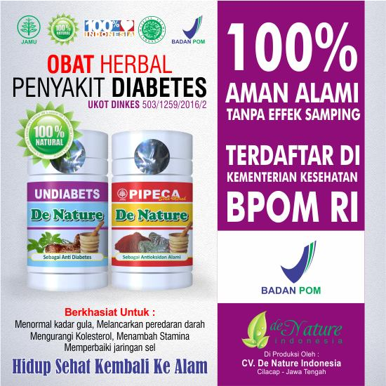 Paket Pengobatan Diabetes - De Nature Indonesia(085888818587-087787063999)